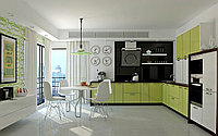 Green Painted Kitchen Cabinets  Remodel Photos