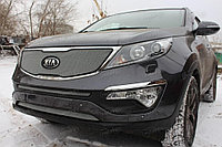 Защита радиатора KIA Sportage 2010- chrome низ