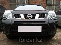 Защита радиатора Nissan X-Trail 2011- black середина, фото 1