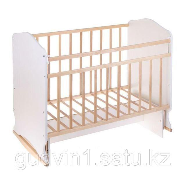 """Кровать детская """"Садко"""" маятник береза-белый,сл.кость-бежевый"""
