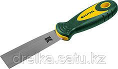 Шпательная лопатка KRAFTOOL с 2-компонент ручк, профилиров нержав полотно, 32мм