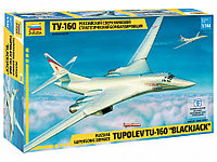 Сборная модель Российский сверхзвуковой стратегический бомбардировщик Ту-160, фото 1