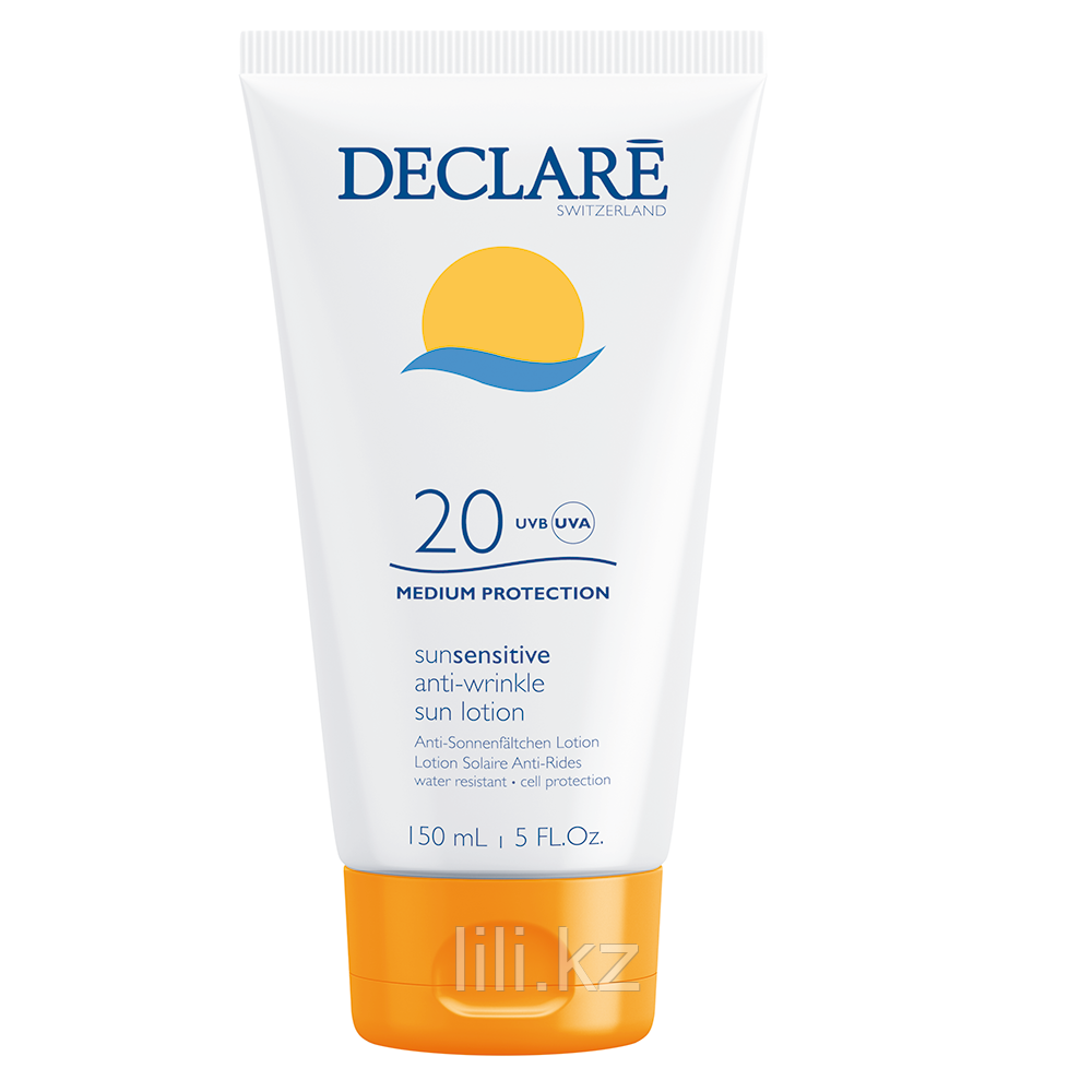 Солнцезащитный лосьон SPF20 Declare Anti-Wrinkle Sun Sensitive lotion SPF 20, 150 мл.
