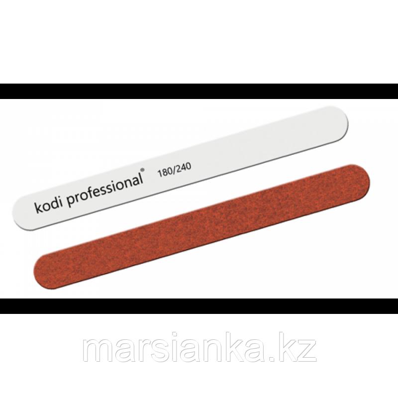 Пилка для ногтей прямая White/Brown Kodi 180/240