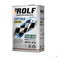 Масло дизельное Rolf Optima Diesel SAE 15W40 API CH-4/SL