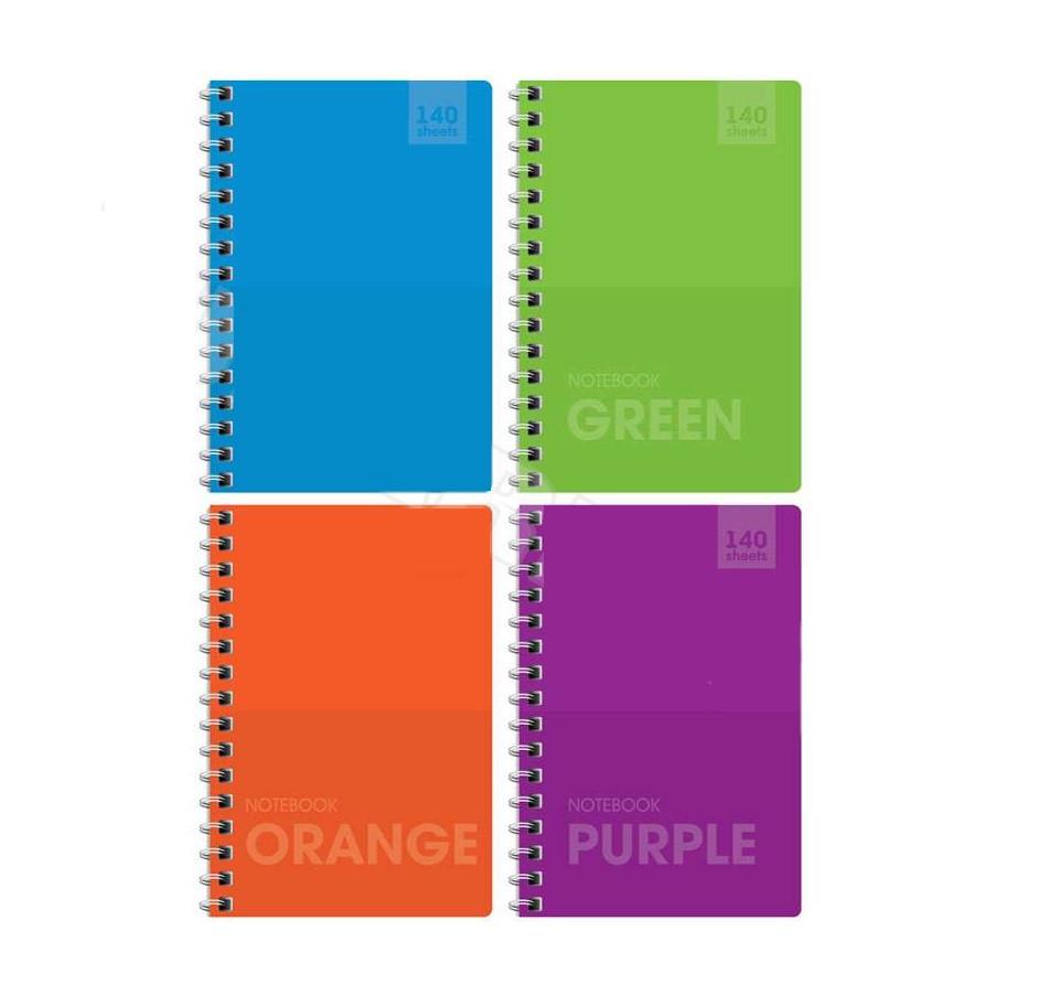 """Записная книжка ArtSpace """"Моноколор. Яркие цвета"""" А6, 140 листов на гребне, клетка"""