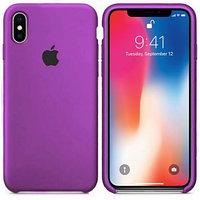 Силиконовый чехол для Apple iPhone XS Max (пурпурный)