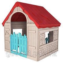Игровой дом KETER складной FOLDABLE PLAYHOUSE (101.8x89.7x110.6h),  арт. 17202656