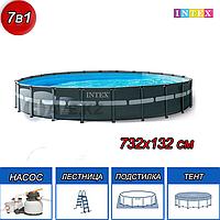 Круглый каркасный бассейн, Ultra XTR Frame, Intex 26340NP, 26340, размер 732х132 см