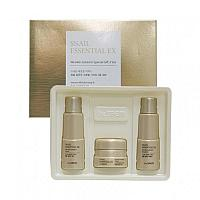 Антивозрастной набор улиточный the saem snail essential ex wrinkle solution skin Care 3 set