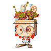 """Деревянный цветочный горшок Robotime """" Pot Bunny Горшок Банни """" , фото 6"""