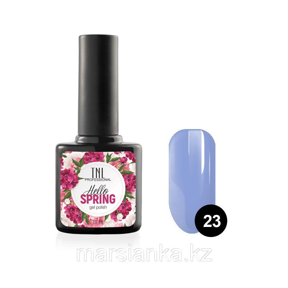 Гель-лак TNL Hello Spring #23 васильковый, 10мл