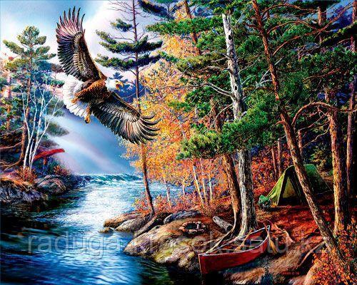 "Картина по номерам ""Орел над рекой"""
