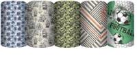 ZMGP-UG1-R-710 Упаковочная бумага немелованная для оформления подарков, рулон в термоусадочной пленке,