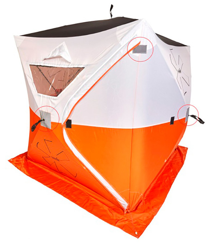 Палатка для зимней рыбалки NORFIN 2-х местная Мод. HOT CUBE 2