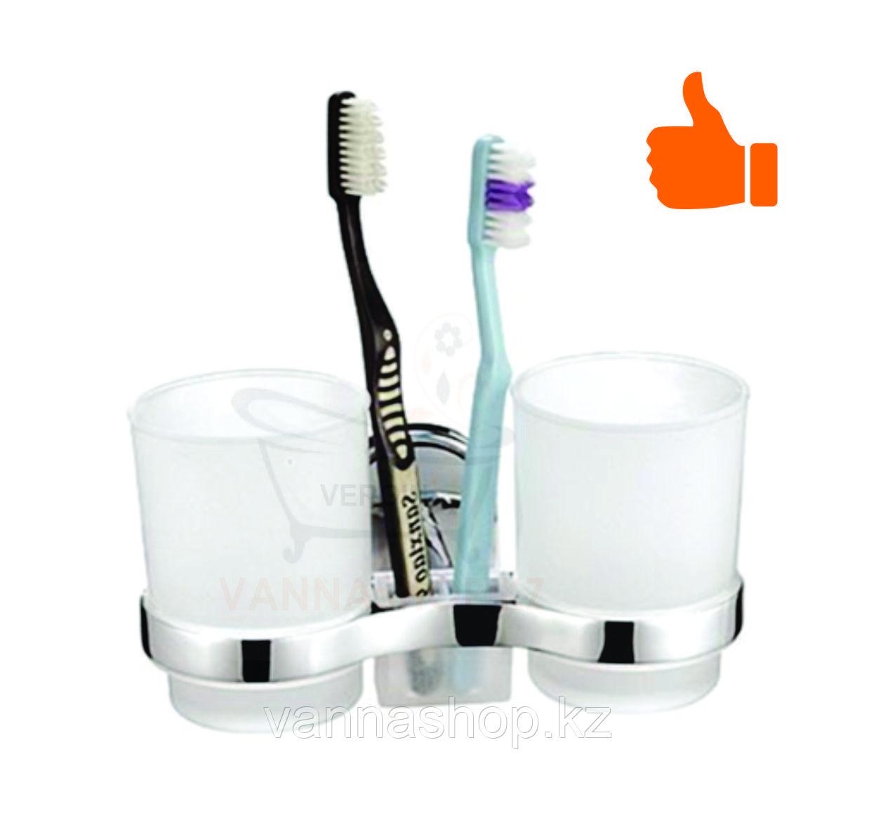 Настенный стакан (двойной) для щеток и зубных паст