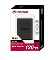 Transcend 120GB USB 3.1 Gen 1 USB Type-C ESD220C Portable SSD Solid State Drive TS120GESD220C