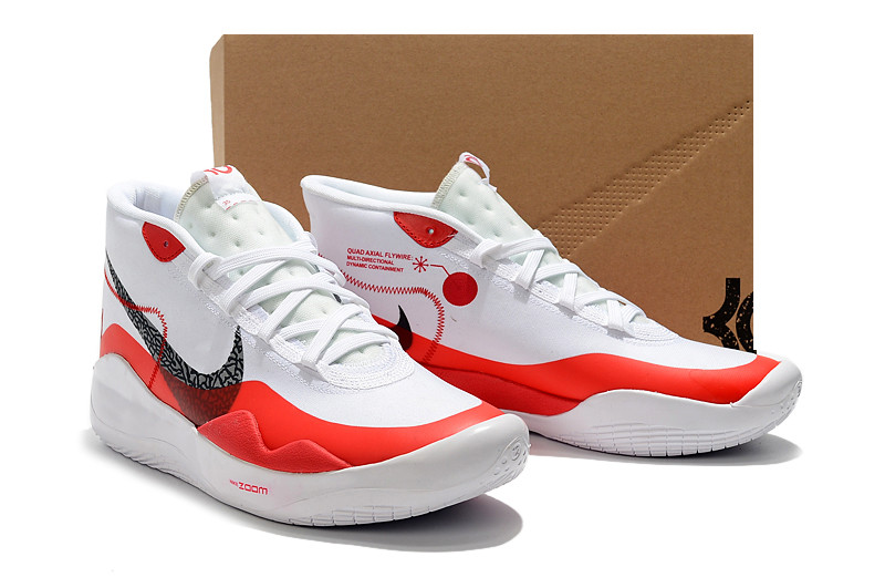 """Баскетбольные кроссовки  Nike KD 12 (XII) """"White-Red"""" from Kevin Durant"""