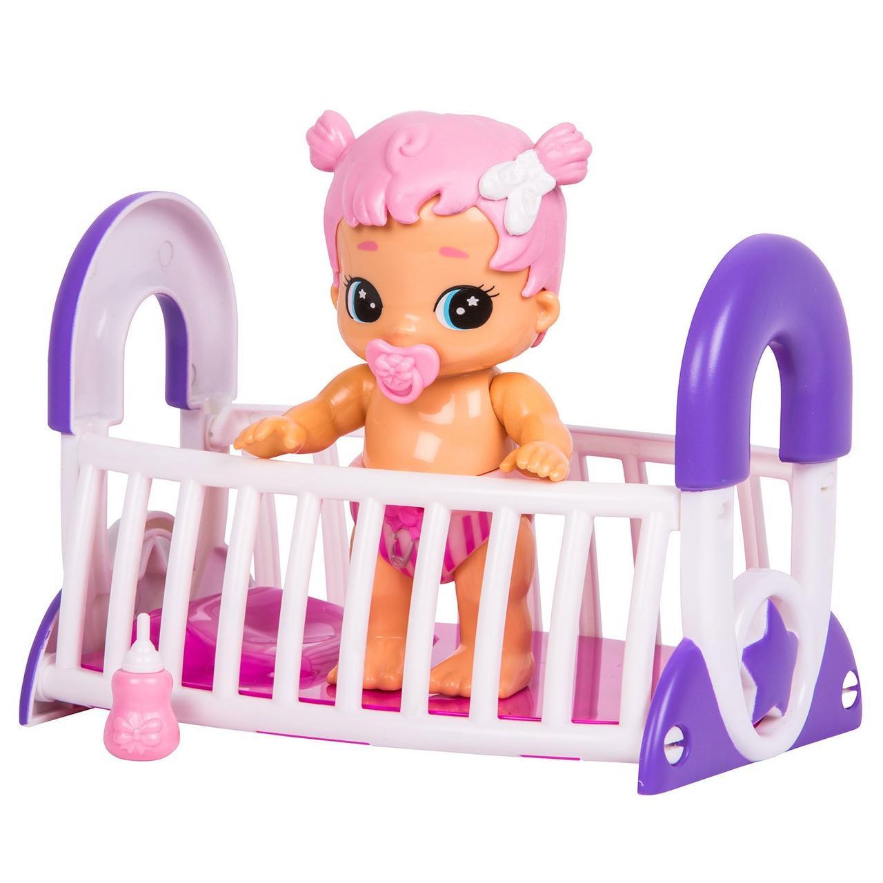 Интерактивная кукла Грейси с кроваткой Bizzy Bubs