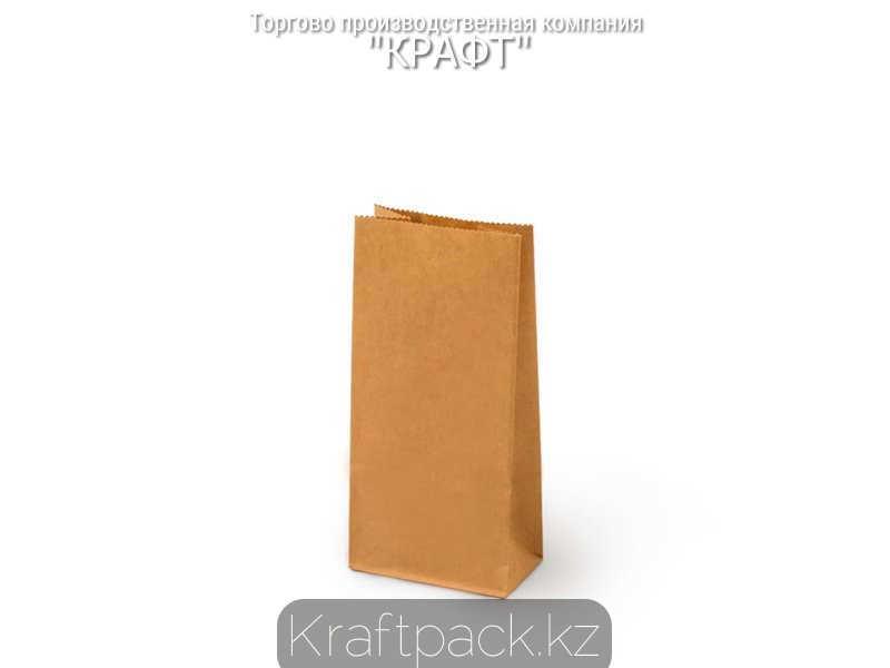 Пакет крафт фасовочный, с прямоугольным дном 80*50*170 мм (600 шт/уп)