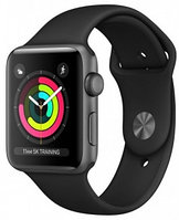Смарт-часы Apple Watch Series 3 GPS 38mm Space Grey Aluminium Case with Black Sport Band (MTF02GK/A)