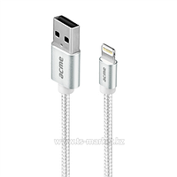 Кабель интерфейсный Lightning ACME CB2031, 1м (CB2031S серебристый)