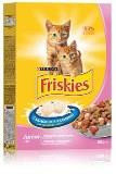 Friskies Junoir - Фрискис сухой корм для котят, с курицей, морковью и молоком 400г
