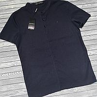 Мужская рубашка лен короткая рукава, фото 1