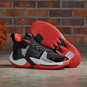 Баскетбольные кроссовки  Jordan Why Not Zero.2 Black\Red, фото 2