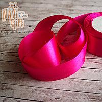 Атласная лента, candy pink, 4см*25м