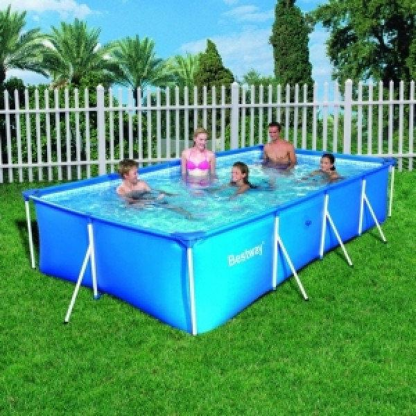 Бассейн каркасный Intex 28273 Rectangular Frame Pool, 450х220х84см