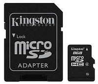 Карта памяти MicroSD 8GB Class 4 Kingston SDC4/8GB