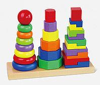 """Игрушка """"Три пирамидки"""" , фото 1"""