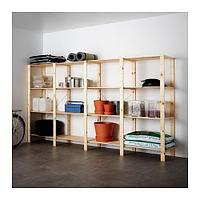 4 секции/полки, ХЕЙНЕ хвойное дерево ИКЕА, IKEA