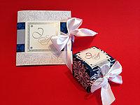 Свадебные пригласительные с фольгированием, фото 1