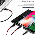 USAMS US-SJ219 U5 3 in 1 Braided Charging Cable 1.5 Meters Compatible for for iPhone/iPad Pro/Air, iPad Mini, фото 2
