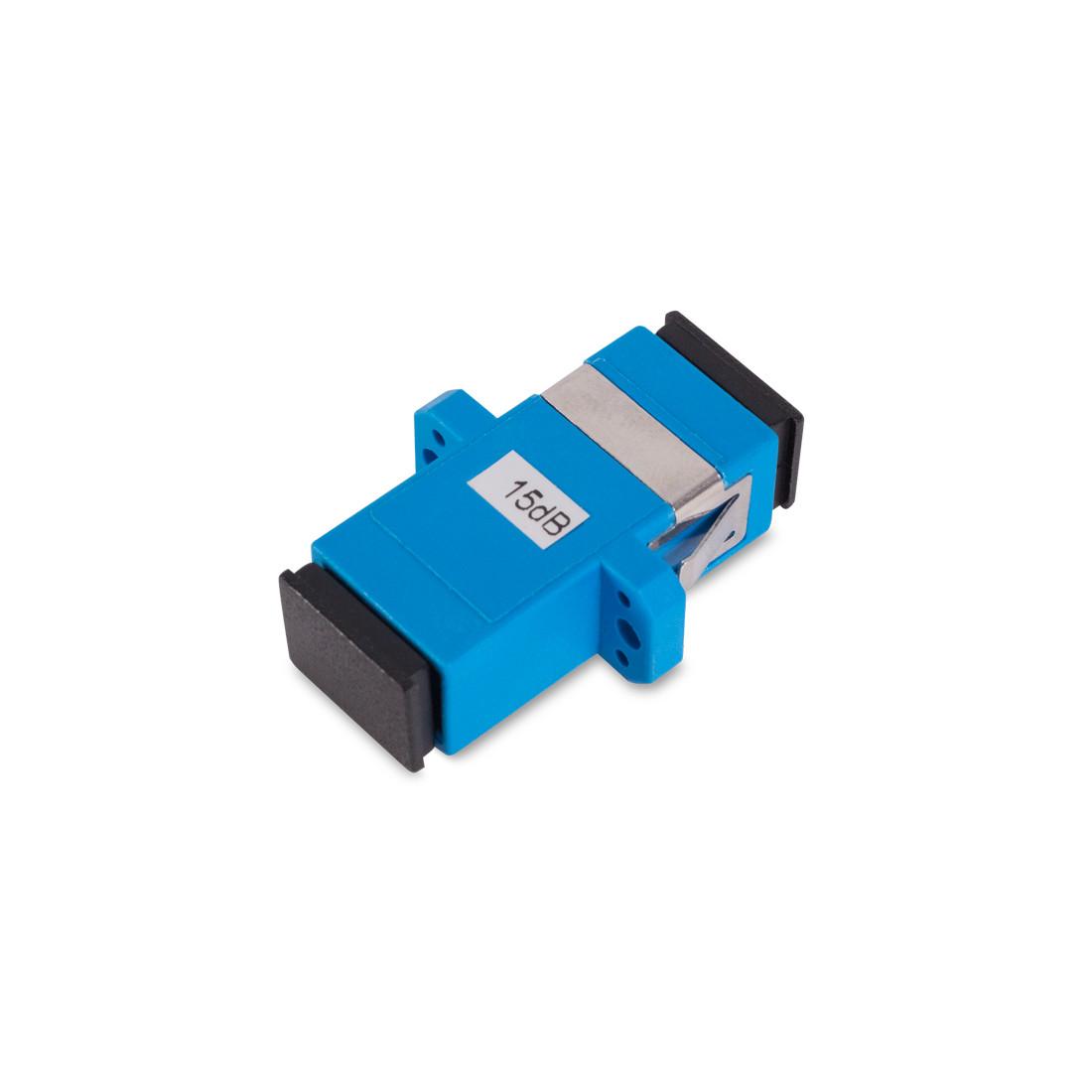 Оптический фиксированный аттенюатор SC/UPC SM 15дБ