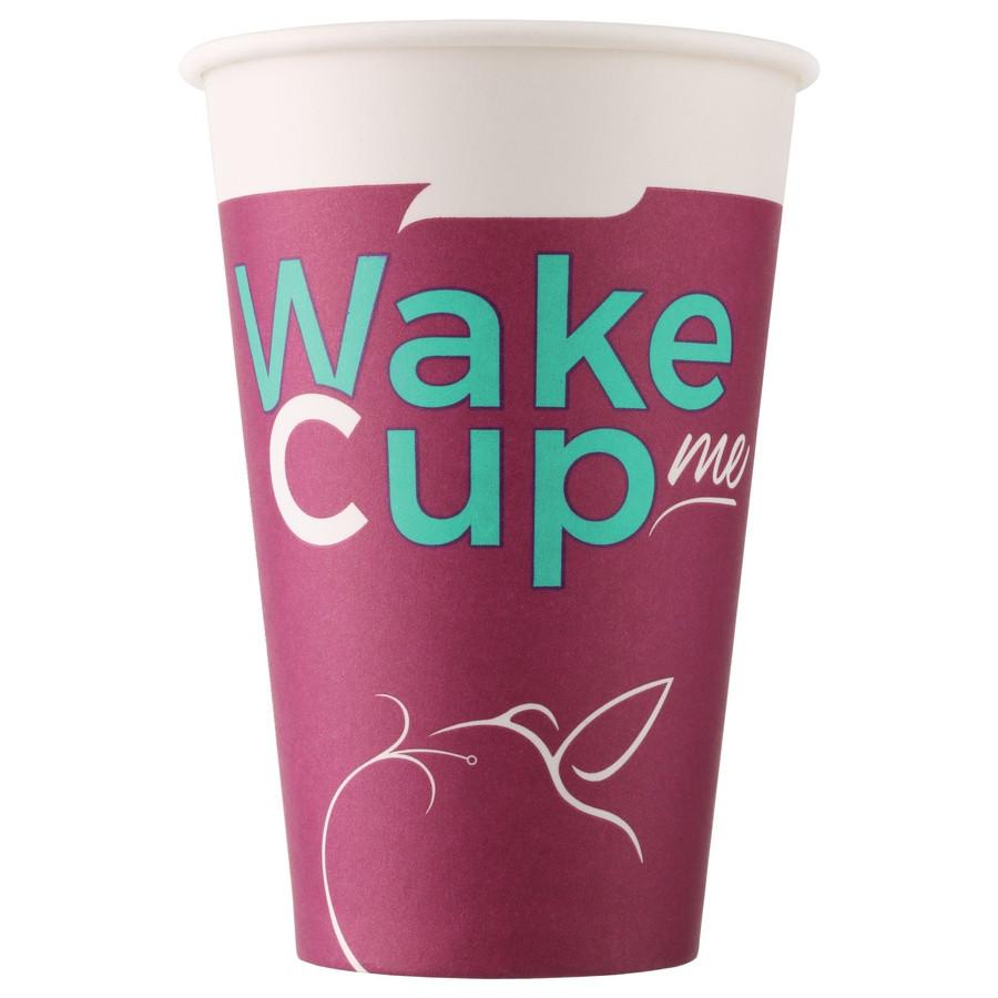 Стакан бумажный Wake Cup Me для гор. напитков, 400мл
