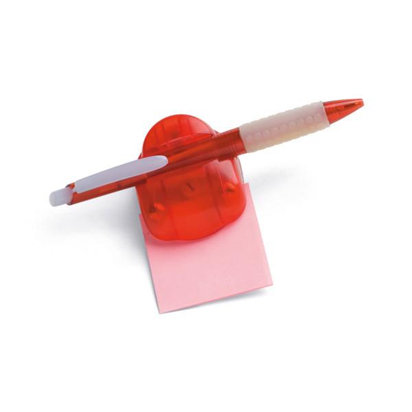 Магнитный держатель для бумаги и ручки, цвет красный