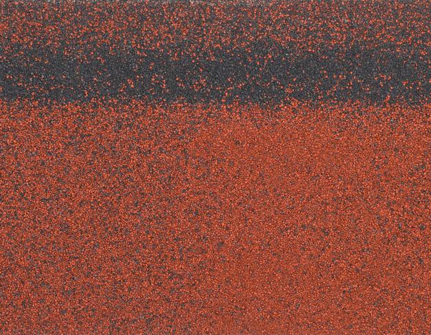 Коньки-карнизы SHINGLAS (Шинглас), 5 м2, Красный