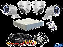 DS-J142I-2 - Комплект 4-х канальной системы IP-видеонаблюдения с 4-мя IP-камерами.