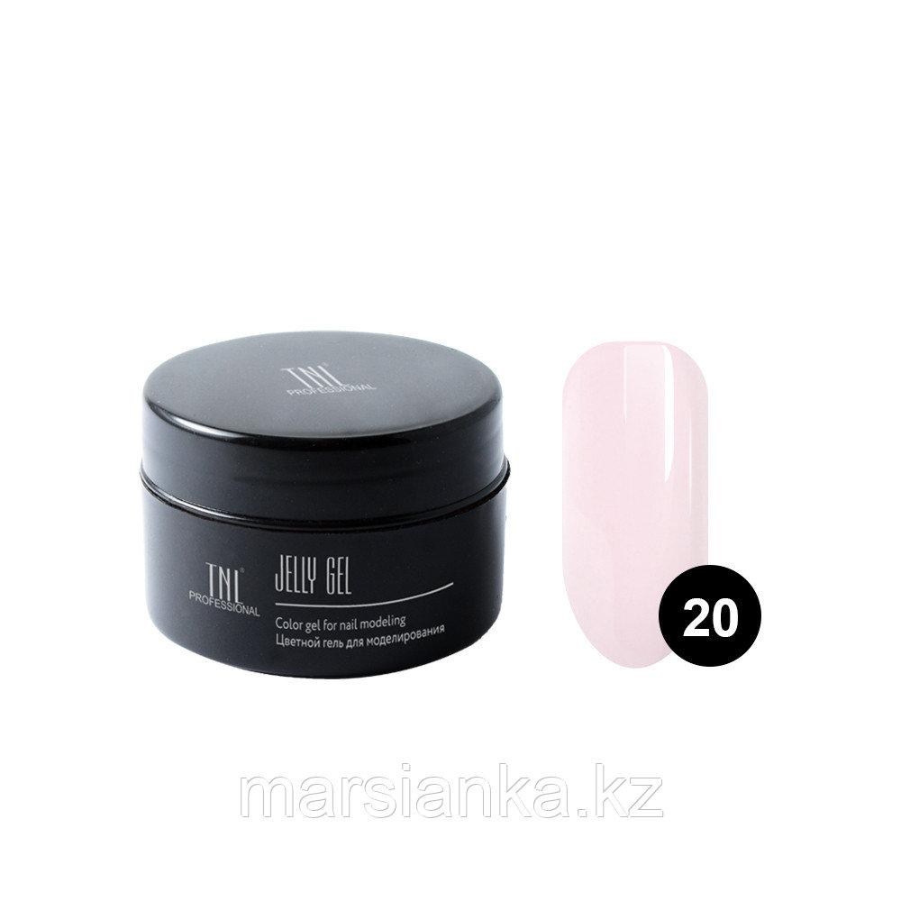 Гель-желе TNL #20 Камуфлирующий нежно розовый, 18мл