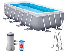 Каркасный бассейн Intex Prism Frame Pool, 400х200х100см + фил.нас + лестница 26788