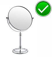 Настольное зеркало увеличительное (хром), фото 1