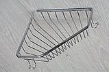 Полочка угловая металлическая хром одинарный, фото 4