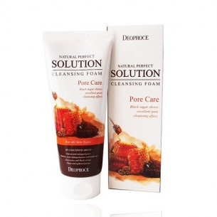 DEOPROCE NATURAL PERFECT SOLUTION CLEANSING FOAM PORE CARE