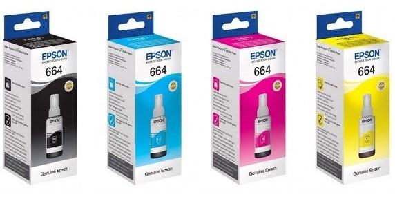 Чернила EPSON 664 yellow