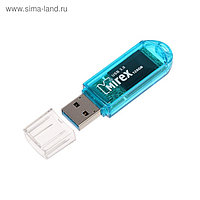 Флешка USB3.0 Mirex ELF BLUE, 128 Гб, чт до 140 Мб/с, зап до 40 Мб/с, синяя