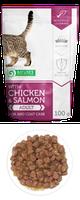 Влажный корм для кошек Nature's Protection with Chicken & Salmon Skin and Coat Care курица/лосось (паучи)