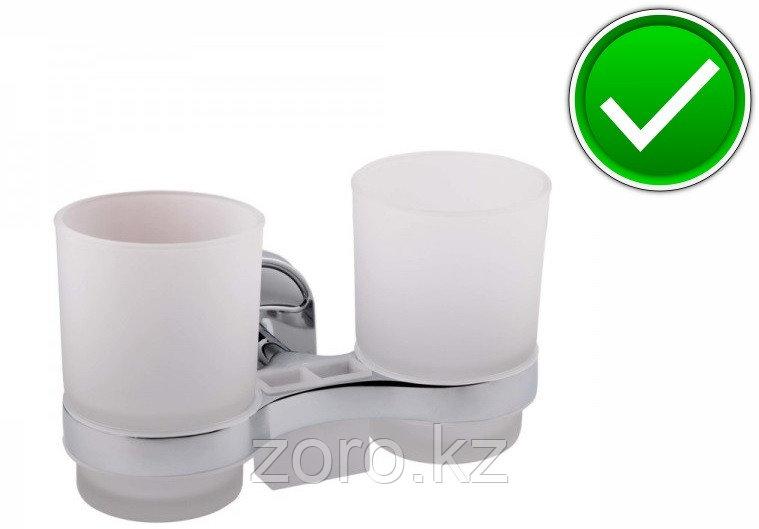 Настенный стакан для ванной комнаты (двойной)